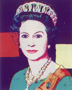 queen elizabeth II by warhol
