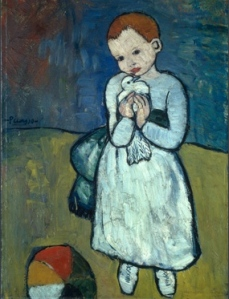 Pablo Picasso: 'Child with a Dove', 1901