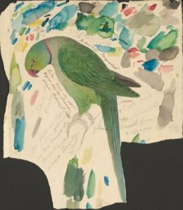Edward Lear green parrot