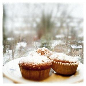 Snow Capped Muffins with Chocolate Chips  ©LondonSE4