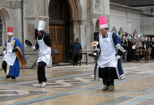 Inter livery pancake race